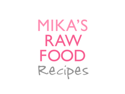 Mika's raw food Recipe Logo Design