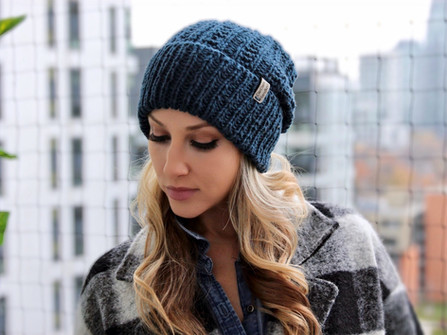 CHUNKY KNIT TOQUE cotton