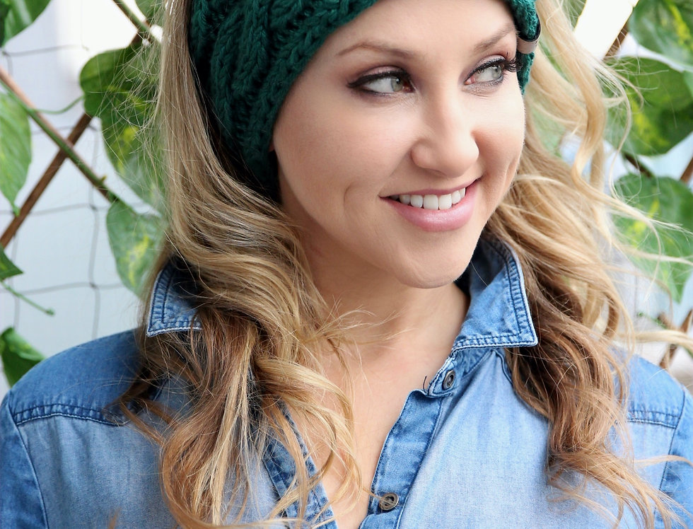 """""""FOREST GREEN """" - Knit Head Band"""