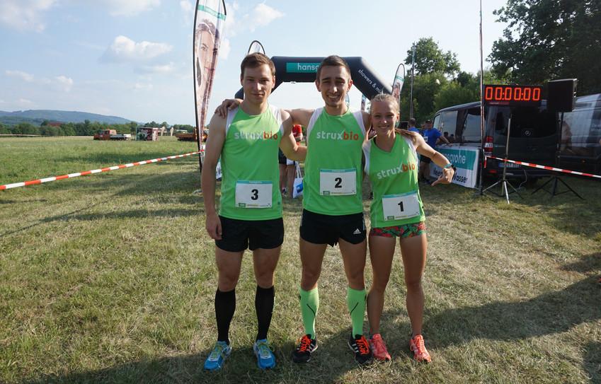 StruxBio-Trios gewinnen deutschlandweiten Firmenlauf