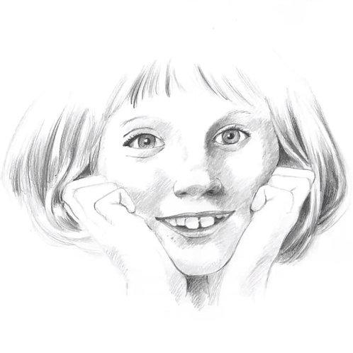 Série : construire efficacement un dessin : dessiner un visage d'enfant