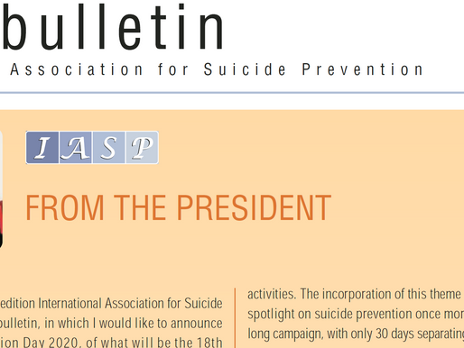 2019 World Suicide Day Prevention (WSPD) Global Activities