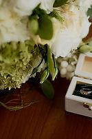 свадебный букет, букет невесты, обручальные кольца, коробочка для колец