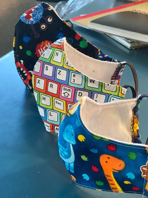 Washable Fitted Face Mask - Child 3-7