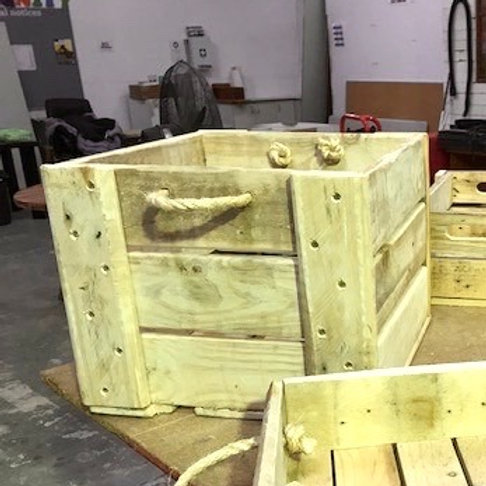 Reclaimed Timber Crate - Large