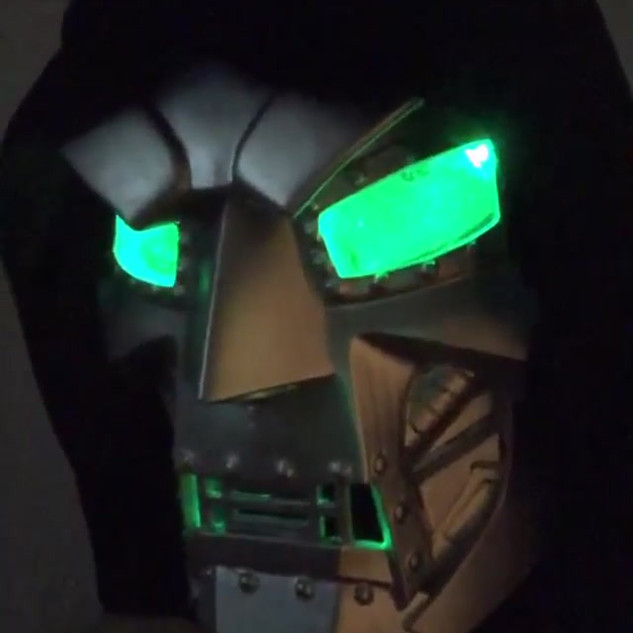 Dr. Doom with LED Lenses