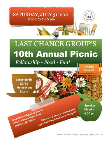 Last Chance Group 10th Annual Picnic