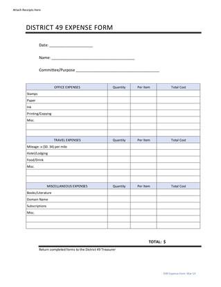 District 49 Expense Form