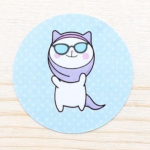 Hijabi Cat Stickers