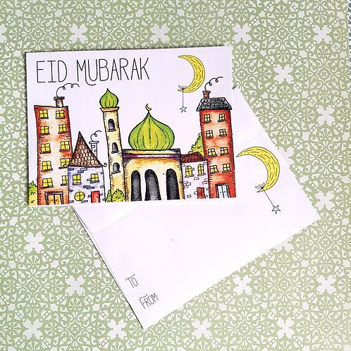 Sketched Masjid Eidi Envelopes