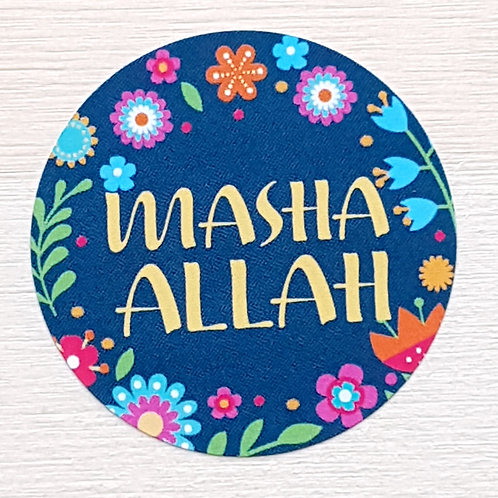 Floral MashaAllah Stickers