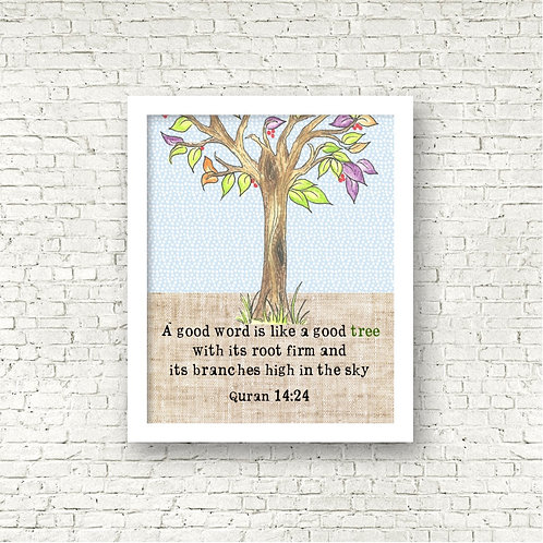 Good Tree Print