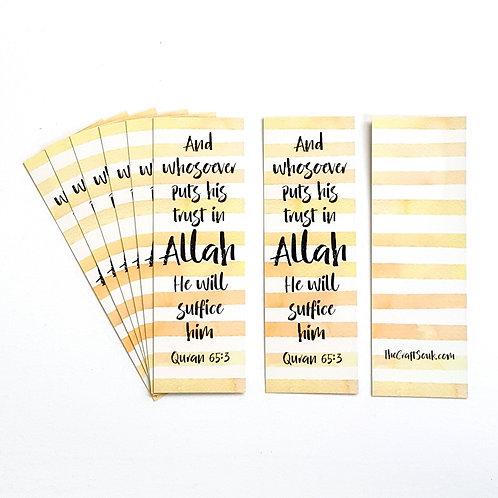 Trust Allah Bookmarks