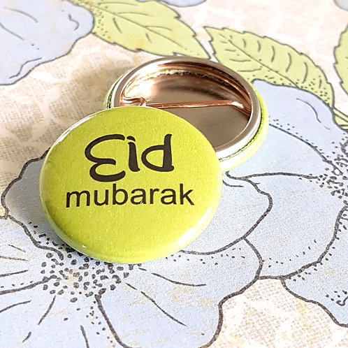 Colourful Eid Pinback Buttons