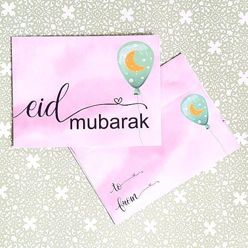 Pink Balloon Eidi Envelopes