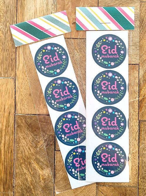 Blue Flowers Eid Sticker Pack