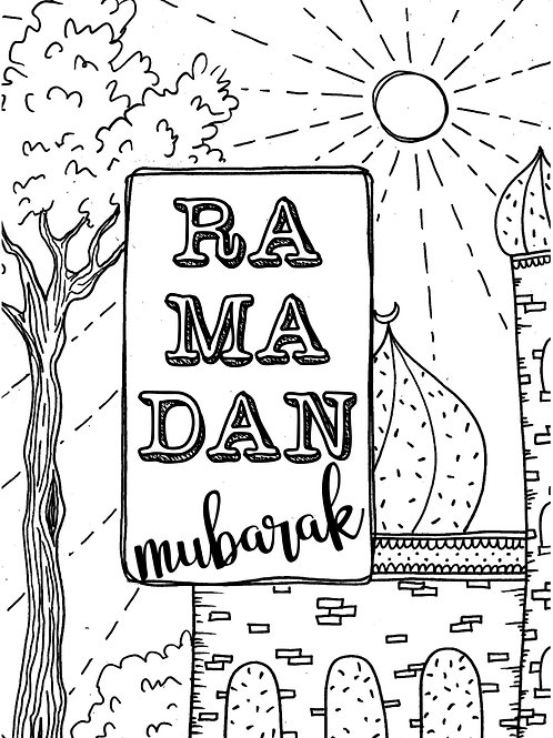 Digial Ramadan ColourMe card