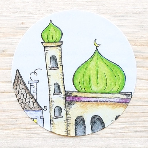 Green Mosque Stickers