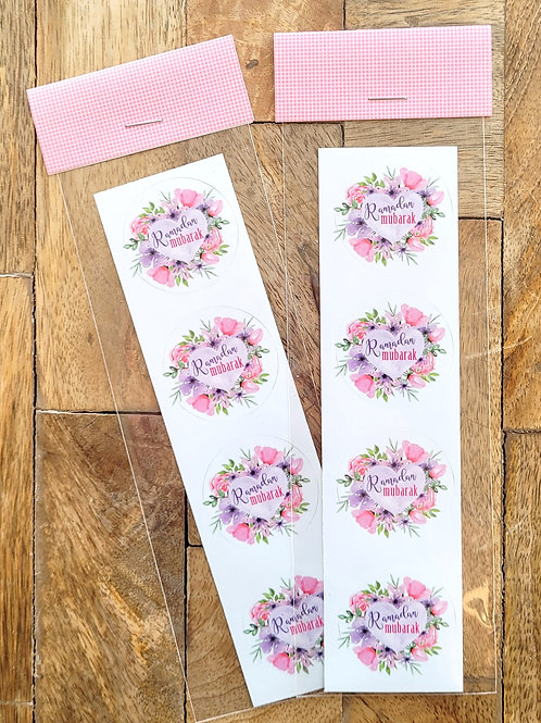Pink Heart Ramadan Sticker Pack