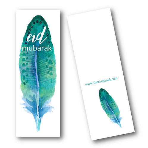 Eid Feather Bookmarks