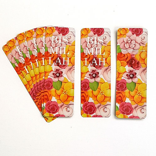 Bismillah Flower Bookmarks