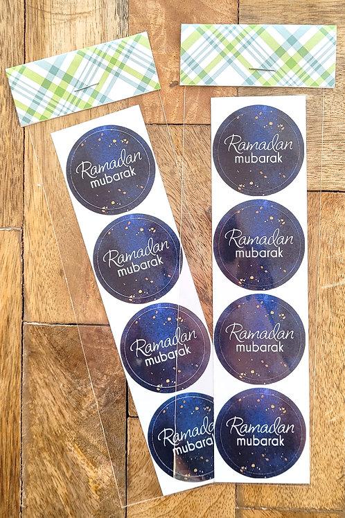 Blue Ramadan Sticker Pack