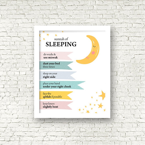 Sunnah of Sleeping Print