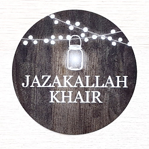 JazakAllah Light Stickers