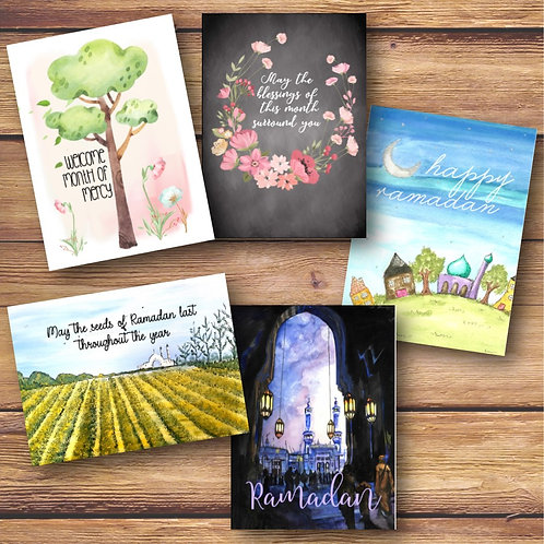 Set of 5 Ramadan Cards