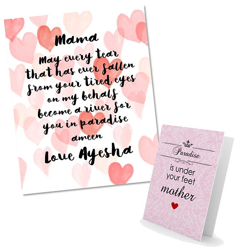 Personalized Mothe's Day Gift Set