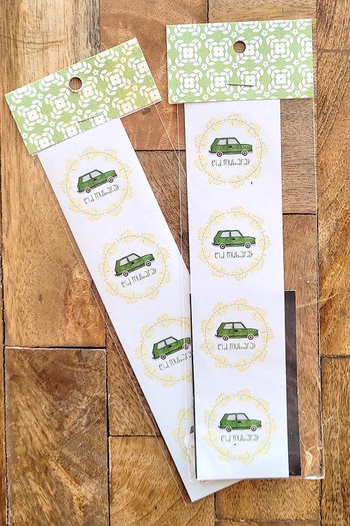 Green Car Eid Sticker Pack