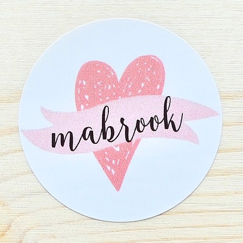 Mabrook Heart Stickers