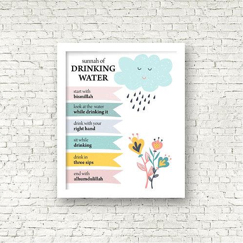Sunnah of Drinking Water Print