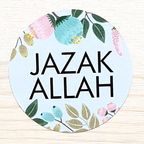 JazakAllah Blue Stickers