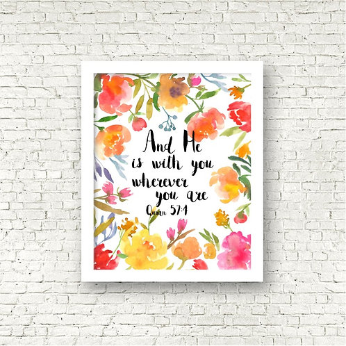 """""""He Is With You"""" Art Print"""