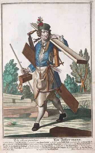 Habit du charpentier | Nicolas de Larmessin