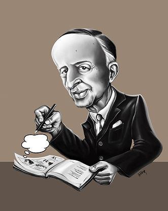 Murilo Mendes caricatura [Exposição Transmuriliana]