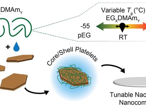 Glass Transition Temperature Regulates Mechanical Performance in Nacre‐Mimetic Nanocomposites