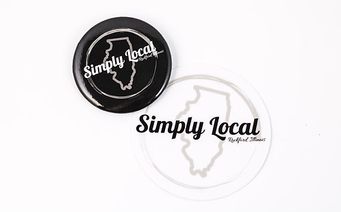 SIMPLY LOCAL STICKERS /  PINS