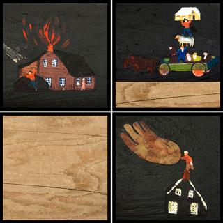 Casa a fuoco, salvate gli animali