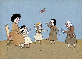 Donne e farfalla