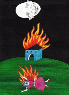 Casa brucia