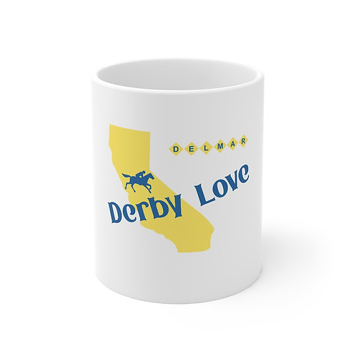 DerbyLove Delmar Ceramic White Mug Drinkware Coffee Tea Cup
