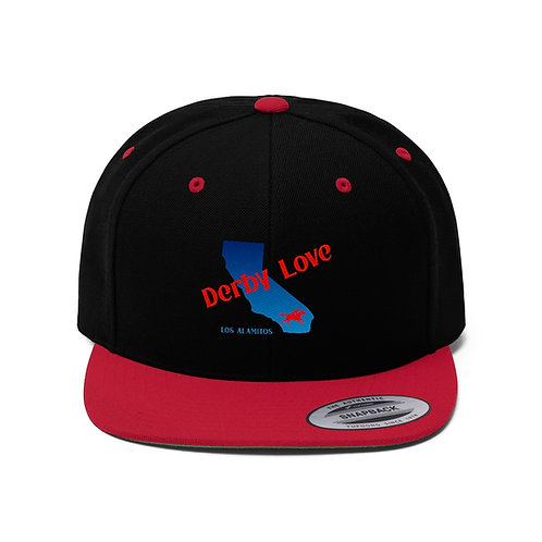 DerbyLove Los Alamitos Unisex Flat Bill Hat Fitted Snapback Hip-hop Hat