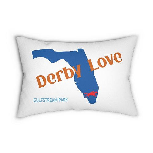 DerbyLove Gulfstream Park Lumbar Zipper Pillow Indoor Water Resistant Cushion