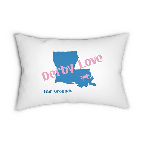 DerbyLove Fair Grounds Lumbar Zipper Pillow Indoor Water Resistant Cushion
