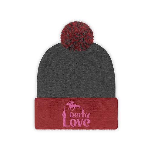 DerbyLove PomPom Beanie Winter Unisex Hats Knitted Skullies Bonnet