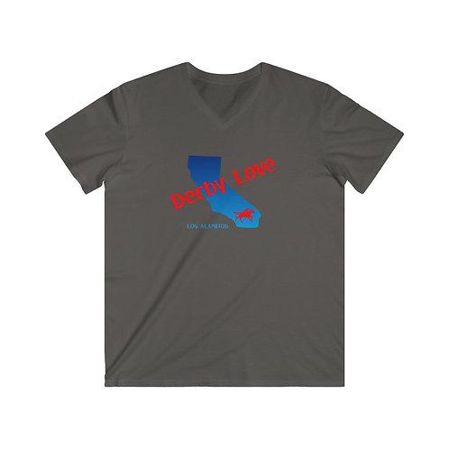 DerbyLove Los Alamitos Men's Fitted V-Neck Short Sleeve Tee Sportwear