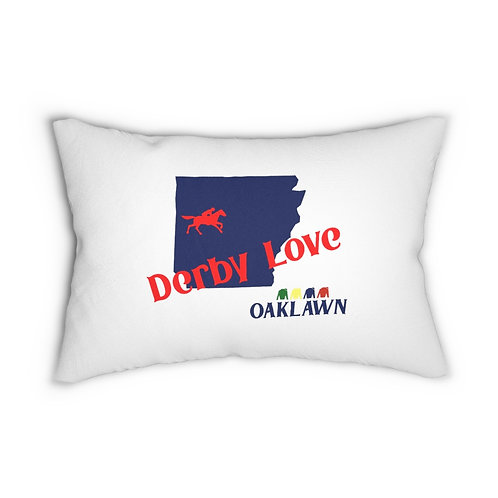 DerbyLove Oaklawn Lumbar Zipper Pillow Indoor Water Resistant Cushion