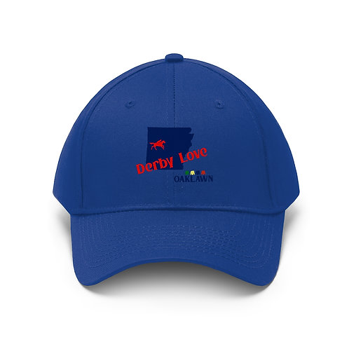 DerbyLove Oaklawn Unisex Twill Hat Outdoor Baseball Cap